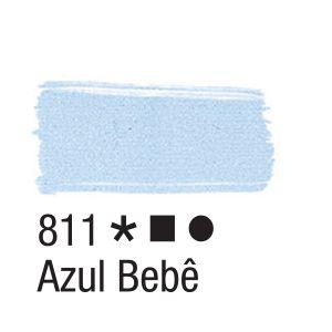 Tinta para tecido 37ml Acrilex 811 Azul Bebê