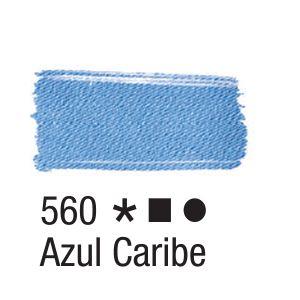 Tinta para tecido 37ml Acrilex 560 Azul Caribe