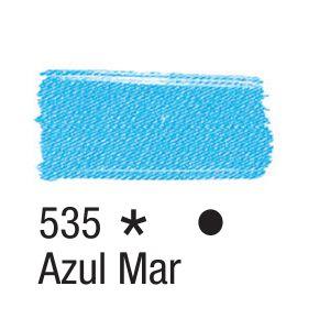 Tinta para tecido 37ml Acrilex 535 Azul Mar