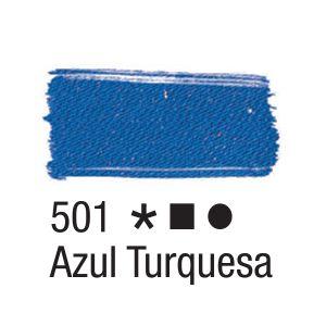Tinta para tecido 37ml Acrilex 501 Azul Turquesa