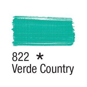 Tinta para tecido 37ml Acrilex 822 Verde Country