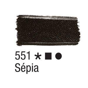 Tinta para tecido 37ml Acrilex 551 Sépia