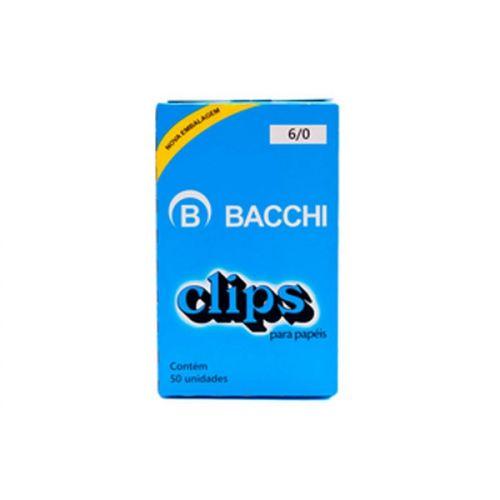 Clips para papel nº 6/0 Bacchi 50 unidades