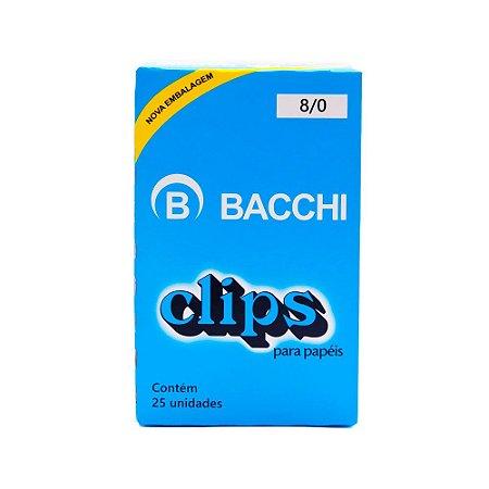 Clips para papel nº 8/0 Bacchi 25 unidades