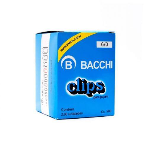 Clips para papel nº 6/0 Bacchi 220 unidades