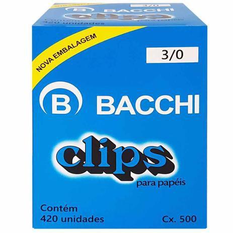 Clips para papel nº 3/0 Bacchi 50 unidades