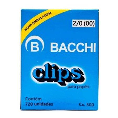 Clips para papel nº 3/0 (00) Bacchi 50 unidades