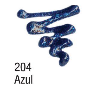Tinta Dimensional 3D Acrilex Glitter 204 Azul
