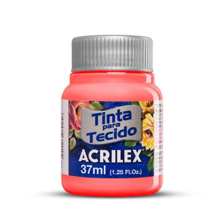 Tinta para tecido 37ml Acrilex 586 Coral