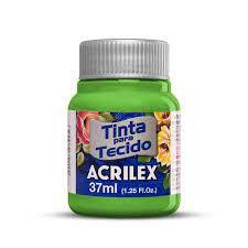 Tinta para tecido 37ml Acrilex 572 Verde Abacate