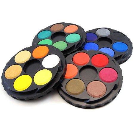 Aquarela em pastilhas Koh I Noor 24 cores