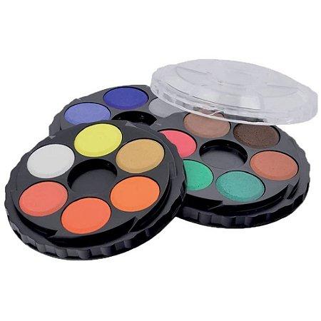 Aquarela em pastilhas Koh I Noor 18 cores