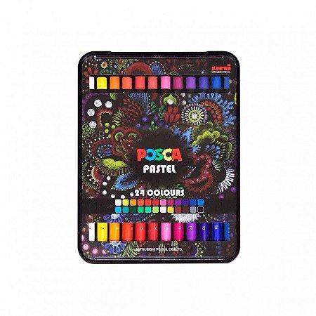 Giz de cera pastel Posca 24 cores