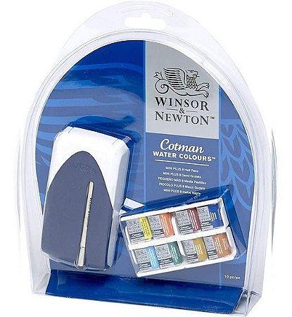 Estojo Aquarela pastilha Winsor e Newton Cotman 8 cores
