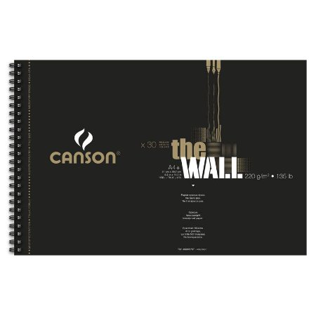 Sketchbook The Wall 220 g/m² A4+ Canson 30 folhas