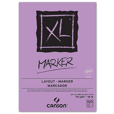 Bloco Canson XL Marker para desenho 100 folhas
