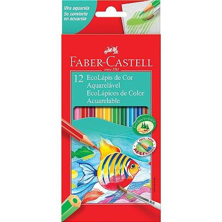 Lapis de cor Aquarelavel Faber Castell 12 Cores