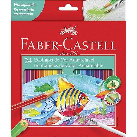 Lapis de cor Aquarelavel Faber Castell 24 Cores