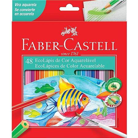 Lapis de cor Aquarelavel Faber Castell 48 Cores