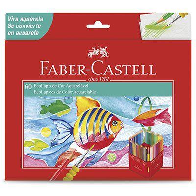 Lapis de cor Aquarelavel Faber Castell 60 Cores
