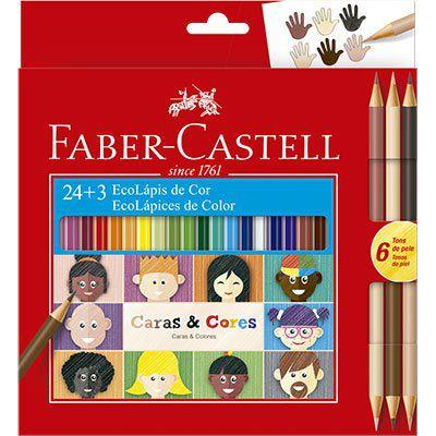 Lapis de cor Caras e Cores 24 cores  + 3 Faber Castell