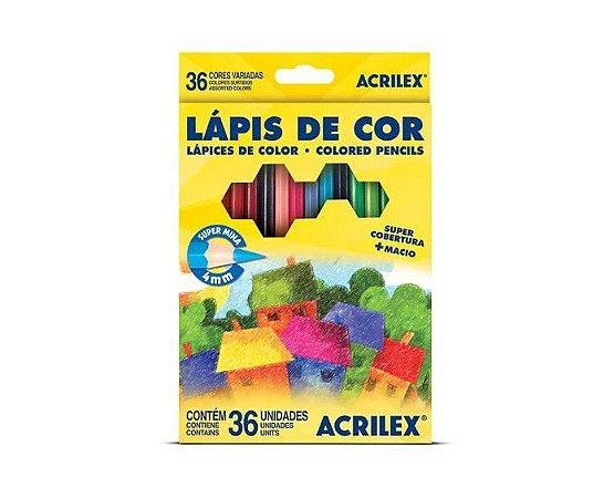 Lapis de cor Acrilex 36 cores