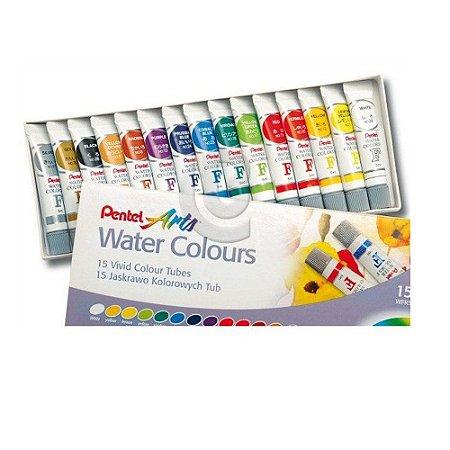 Aquarela Pentel Arts 5ml bisnaga 15 unidades