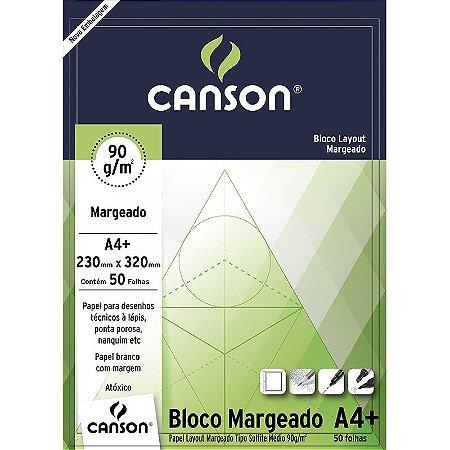 Papel Layout 90 Margeado A4+ Canson 50 folhas