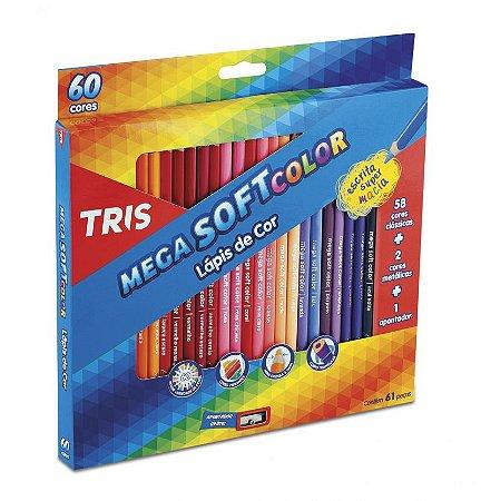 Lapis de cor Mega Soft Color Tris 60 cores