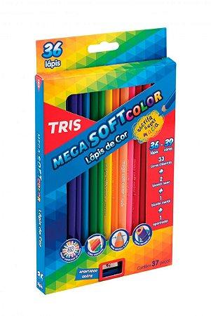Lapis de cor Mega Soft Color Tris 36 cores