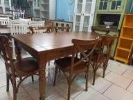 Mesa Pé Torneado com 6 Cadeiras Malta