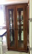 Cristaleira Lateral de Vidro 2 portas 3 prateleiras de vidro