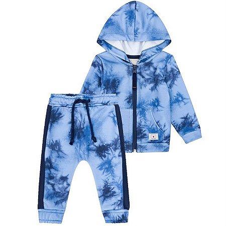 Conjunto Infantil Masculino Tie Dye Azul - Luc.Boo