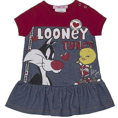 Vestido Infantil Feminino Looney Tunes - Momi