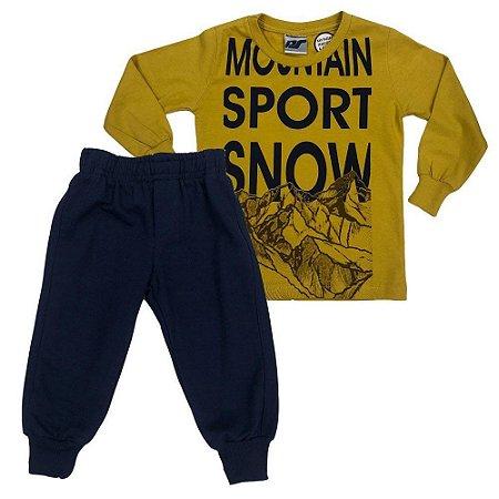 Conjunto Menino Camiseta e Calça Mountain Sport Snow - Passagem secreta
