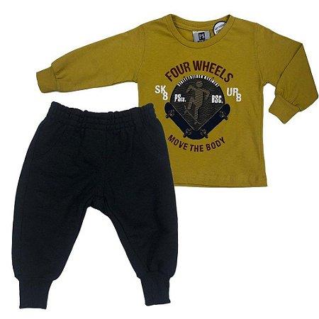 Conjunto Menino Camiseta e Calça Four Whells - Passagem Secreta