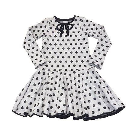 Vestido Infantil Jacquard Babado Menina  - Momi