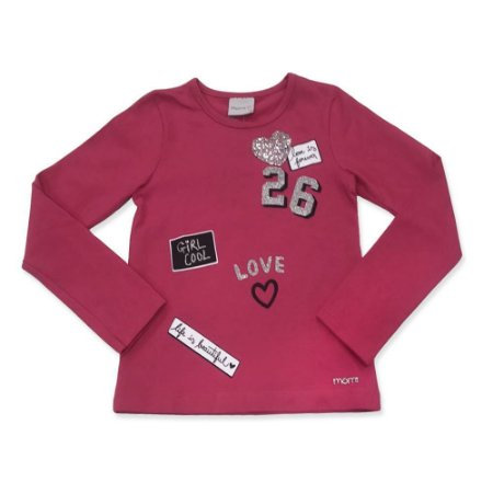Blusa Infantil Feminina Girl Love Pink - Momi