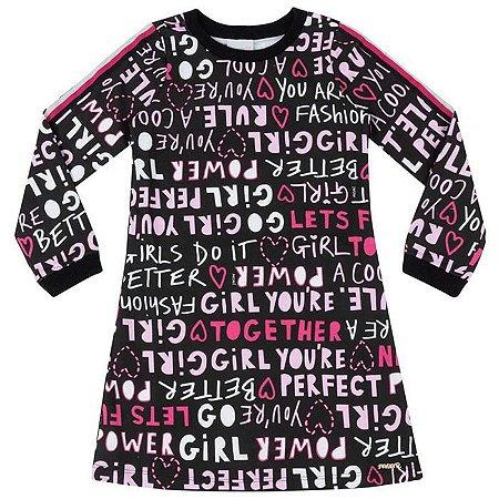 Vestido Infantil Estampado Girl Power - Momi
