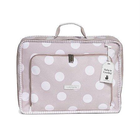 Mala Maternidade Vintage Bubbles Rosa - Masterbag Baby