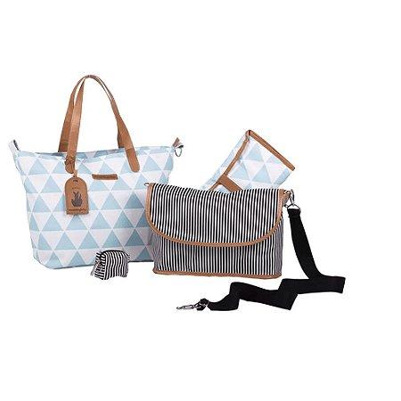 Bolsa 4 em 1 Sophia Manhatan Azul - Masterbag Baby