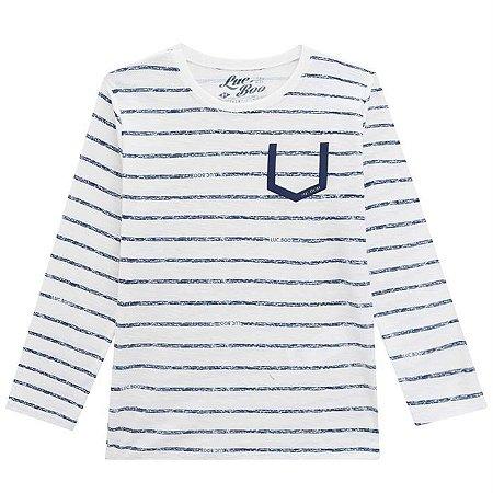 Camiseta Infantil Masculina Listras - Luc.Boo