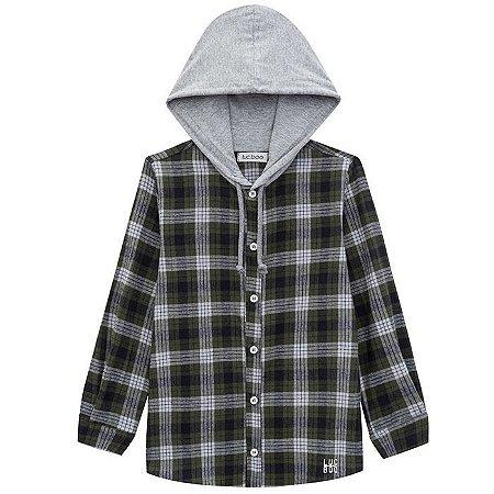 Camisa Infantil Masculina Xadrez - Luc.Boo