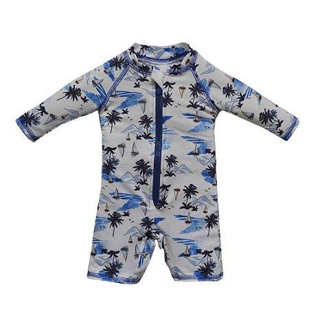 Macacão Infantil Masculino UV Protection Beachwear Branco - Grow Up