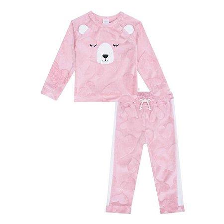 Conjunto Infantil Feminino Bear - Kukiê