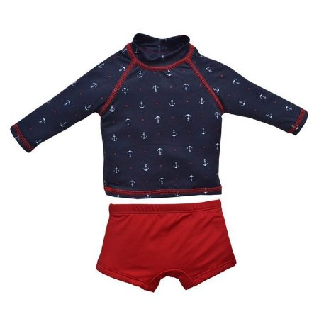 Conjunto Infantil Masculino UV Protection Navy Marinho - Grow UP