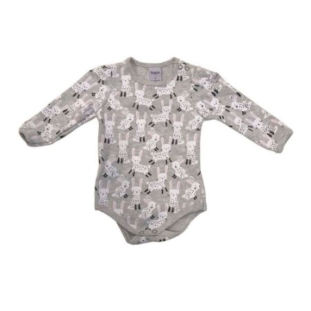 Body Bebê Manga Longa Coelhinho Suedine Menina - Piu Piu