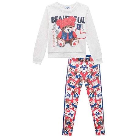 Conjunto Infantil Feminino Beautiful Bear - Kukiê