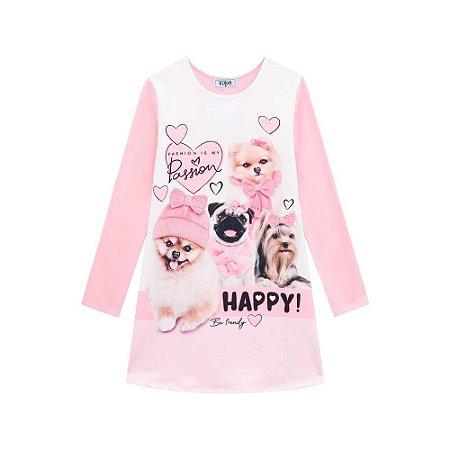 Vestido Infantil Feminino Pets - Kukiê