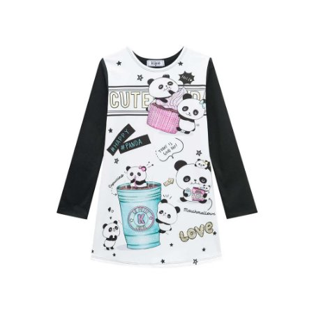 Vestido Infantil Feminino Panda - Kukiê